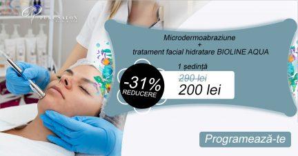 Microdermoabraziune + tratament facial hidratare BIOLINE AQUA template 2